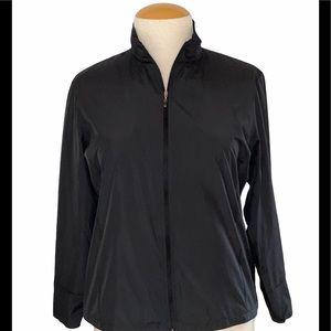 Callaway Black wind resistant cinched back jacket